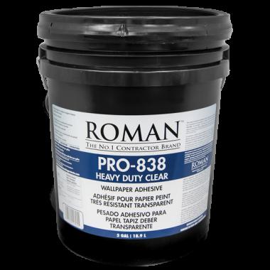 Roman Products, LLC: PRO-838 Heavy Duty Clear Adh 18,9l - spotreba 0,15l/m2 - 11305