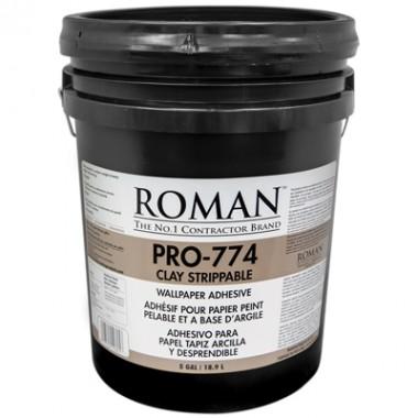Roman Products, LLC: PRO-774 Clay Strippable Adh 18,9l - spotreba 0,22l/m2 - 10605